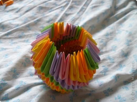 Мастер-класс Оригами модульное: ваза на день рождения Бумага День рождения. Фото 11