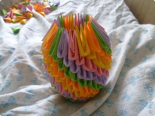 Мастер-класс Оригами модульное: ваза на день рождения Бумага День рождения. Фото 12