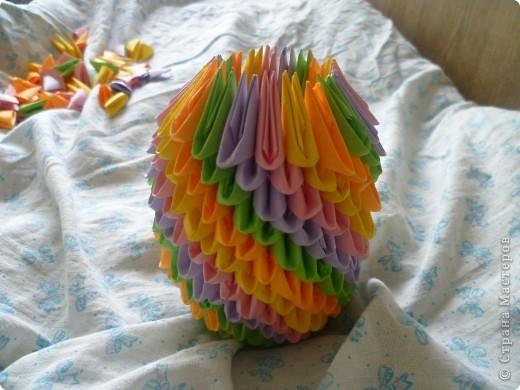 Мастер-класс Оригами модульное: ваза на день рождения Бумага День рождения. Фото 13