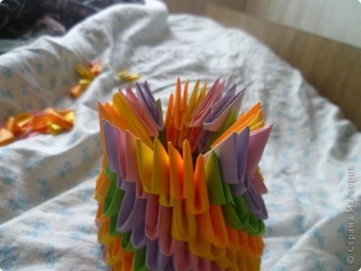 Мастер-класс Оригами модульное: ваза на день рождения Бумага День рождения. Фото 15