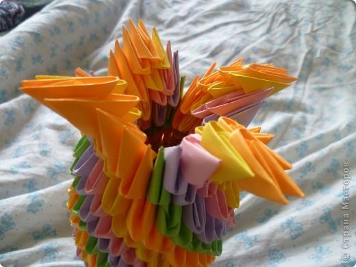 Мастер-класс Оригами модульное: ваза на день рождения Бумага День рождения. Фото 16