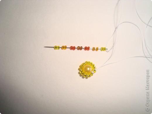 Сердце из бисерных цветов Dsc02598