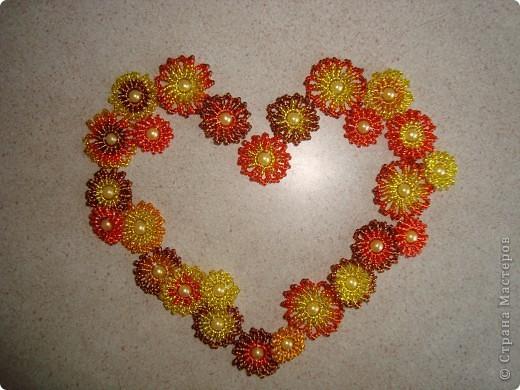 Сердце из бисерных цветов Dsc02615