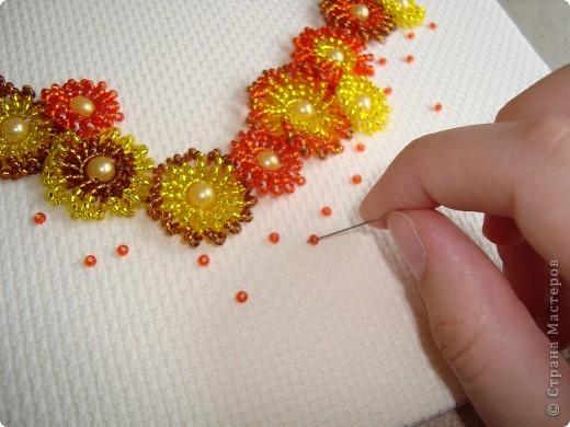 Сердце из бисерных цветов Dsc02635_0