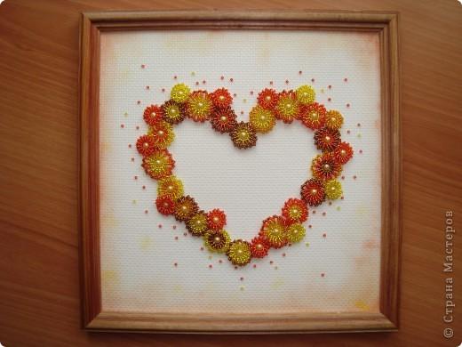 Сердце из бисерных цветов Dsc02653