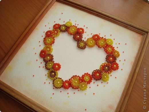 Сердце из бисерных цветов Dsc02656