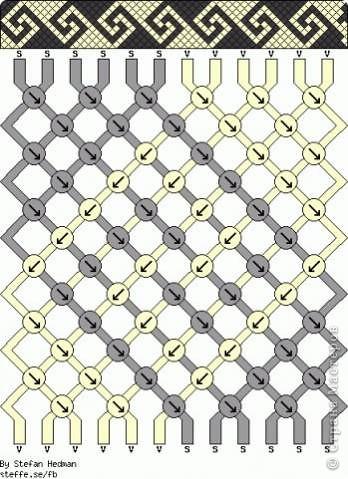 Схемы фенечек из бисера.