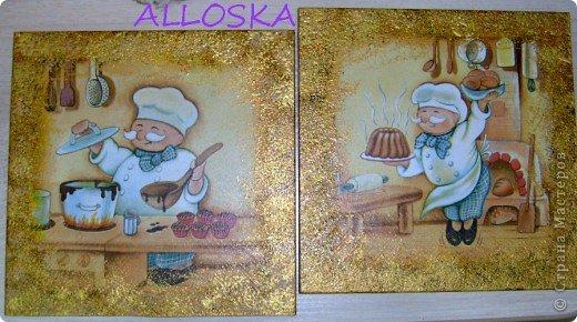 Мастер-класс, Поделка, изделие Декупаж: ДЕКУПАЖ на керамической плитке,небольшой МК Краска, Салфетки Отдых. Фото 1