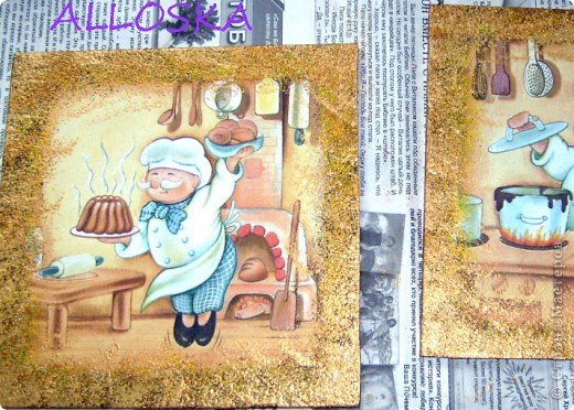 Мастер-класс, Поделка, изделие Декупаж: ДЕКУПАЖ на керамической плитке,небольшой МК Краска, Салфетки Отдых. Фото 14