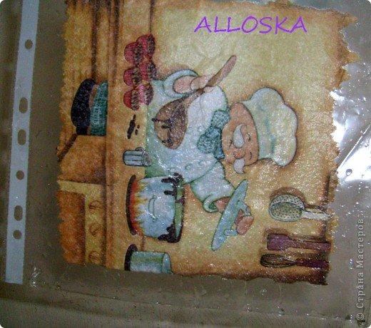 Мастер-класс, Поделка, изделие Декупаж: ДЕКУПАЖ на керамической плитке,небольшой МК Краска, Салфетки Отдых. Фото 7