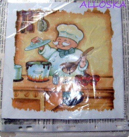 Мастер-класс, Поделка, изделие Декупаж: ДЕКУПАЖ на керамической плитке,небольшой МК Краска, Салфетки Отдых. Фото 8