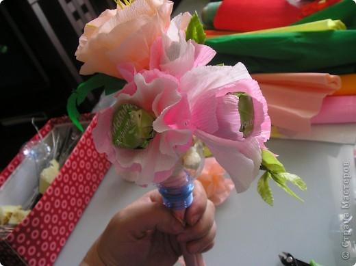 Мастер-класс, Свит-дизайн Вырезание, Моделирование: Букетик из конфет. МК для сластен с дополнениями Бумага. Фото 43