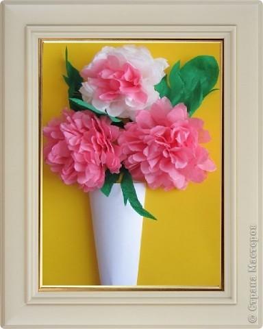 Объемные картины цветы своими руками 70
