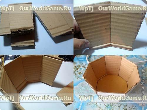 Сделать корзинку своими руками из картона
