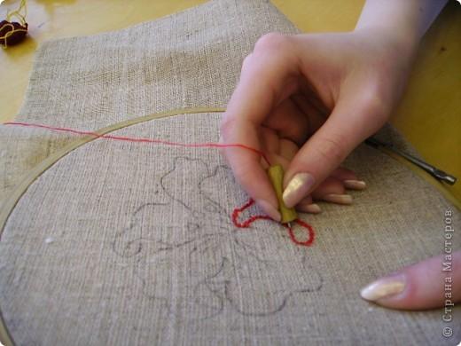 Вышивка петлями специальной иглой мастер класс 87
