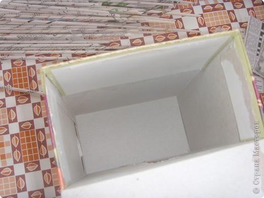 Мастер-класс, Поделка, изделие Декупаж: Салфетница или как я использовала белые слои от салфеток. Бумага газетная, Коробки, Материал бросовый, Салфетки, Скорлупа яичная Дебют. Фото 3
