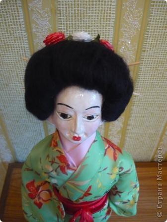 Куклы, Мастер-класс Папье-маше, Шитьё: Кукла японочка + МК Бумага, Клей, Краска, Пряжа, Ткань Отдых. Фото 3