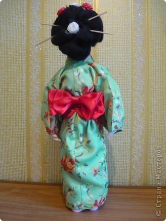 Куклы, Мастер-класс Папье-маше, Шитьё: Кукла японочка + МК Бумага, Клей, Краска, Пряжа, Ткань Отдых. Фото 4