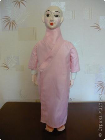 Куклы, Мастер-класс Папье-маше, Шитьё: Кукла японочка + МК Бумага, Клей, Краска, Пряжа, Ткань Отдых. Фото 21