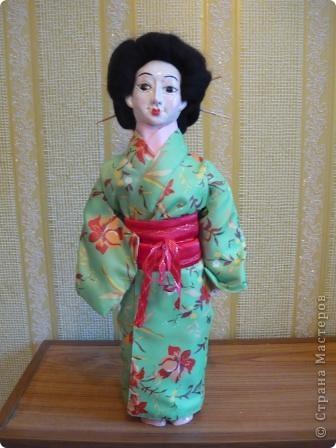 Куклы, Мастер-класс Папье-маше, Шитьё: Кукла японочка + МК Бумага, Клей, Краска, Пряжа, Ткань Отдых. Фото 25