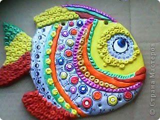 Поделка, изделие Лепка: Вот такая рыбка Тесто соленое. Фото 1