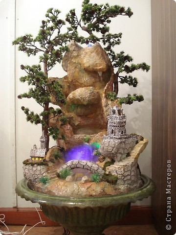 Комнатный фонтан своими руками мастер класс