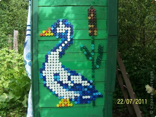 Картина, панно Мозаика: Жили у бабуси два весёлых гуся. Материал бросовый Отдых. Фото 1