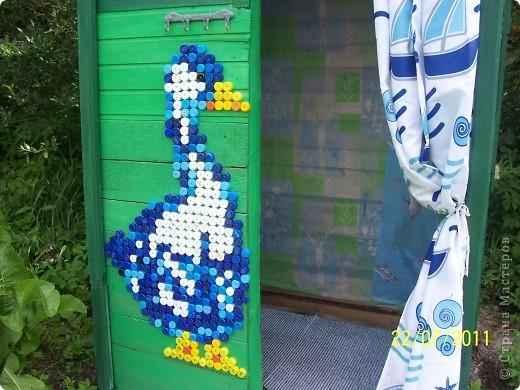 Картина, панно Мозаика: Жили у бабуси два весёлых гуся. Материал бросовый Отдых. Фото 2