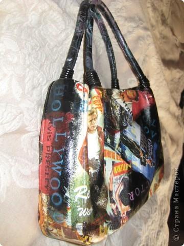 Декор предметов Декупаж: Реставрация сумки Краска, Салфетки.  Фото 3.