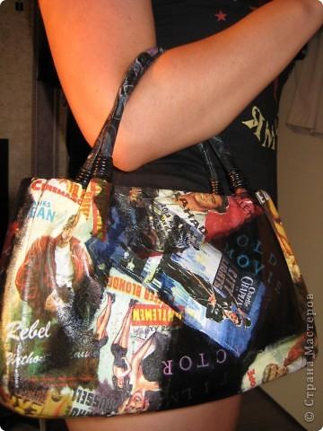 Декор предметов Декупаж: Реставрация сумки Краска, Салфетки.  Фото 4.