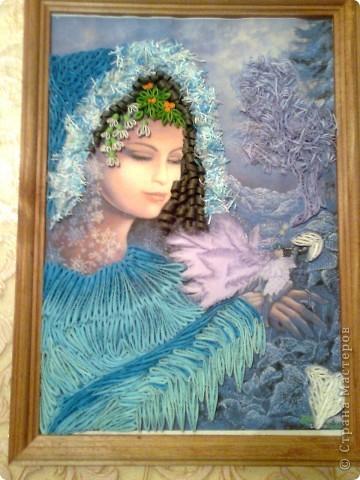 """Картина, панно Квиллинг: """"Зима""""  Бумага"""