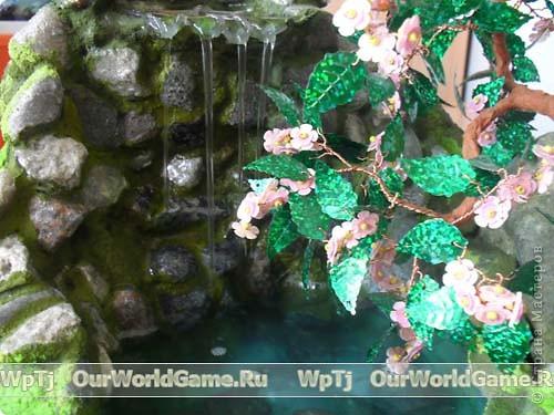 Настольный водопад своими руками мастер класс с пошаговым фото