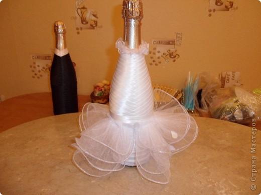 Мастер-класс Аппликация: Свадебные бутылочки и МК Ленты Свадьба. Фото 11