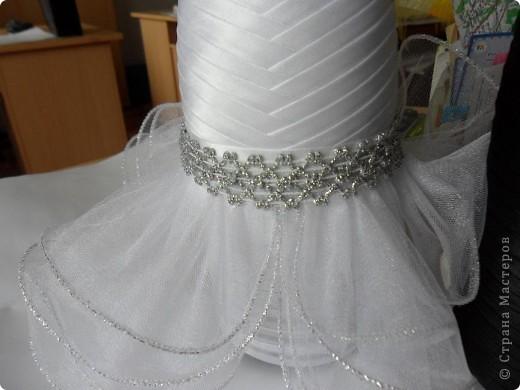 Мастер-класс Аппликация: Свадебные бутылочки и МК Ленты Свадьба. Фото 24