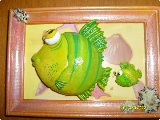 Мастер-класс Лепка: Учусь делать МК. Рыб и рыбёнок Тесто соленое. Фото 20