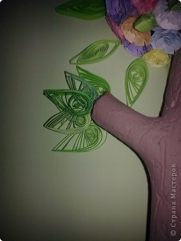 Картина, панно Квиллинг: Дерево Бумага, Бумага газетная, Бумажные полосы, Дерево, Картон, Клей, Краска, Материал природный, Нитки, Стаканчики, Фанера Отдых. Фото 5