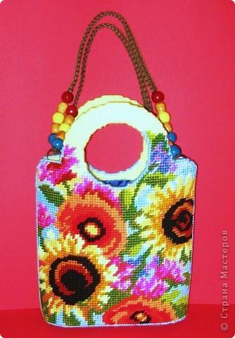 Мастер-класс Вышивка ковровая: Летняя сумочка «Жанлинн». Канва, Нитки Отдых. Фото 1