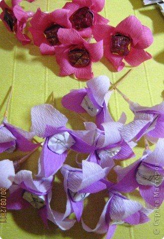 Мастер-класс, Свит-дизайн: Куклы из конфет. МК. Бумага гофрированная День рождения. Фото 27