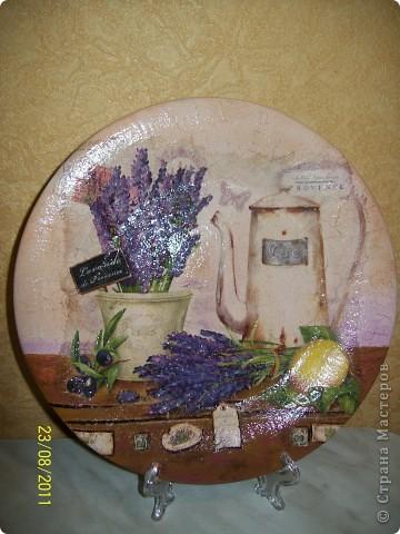 Поделка, изделие Декупаж: Просто тарелка. Салфетки. Фото 1