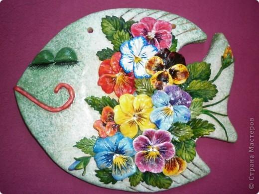 Поделка, изделие Лепка: Цветочно-соляныя рыбки Тесто соленое. Фото 6