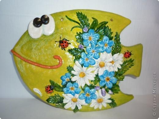 Поделка, изделие Лепка: Цветочно-соляныя рыбки Тесто соленое. Фото 1