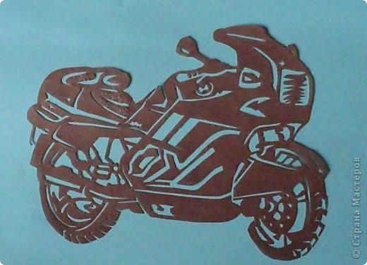 Открытка мотоцикл своими руками из бумаги 4