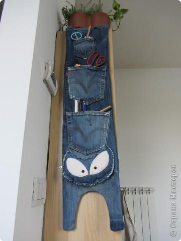 Поделка, изделие Шитьё: старые джинсы Материал бросовый.  Фото 1.