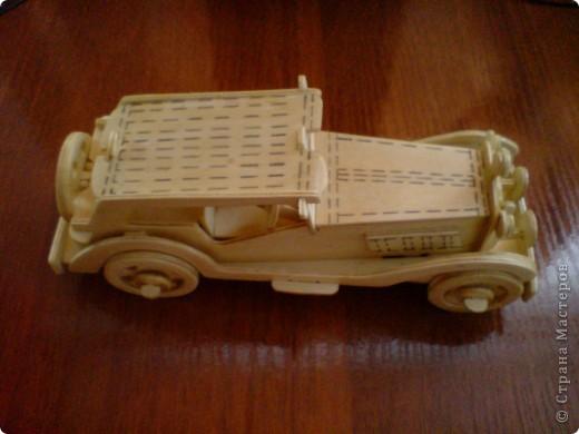 Поделки для мальчиков Выпиливание: Модели автомобилей Фанера. Фото 1