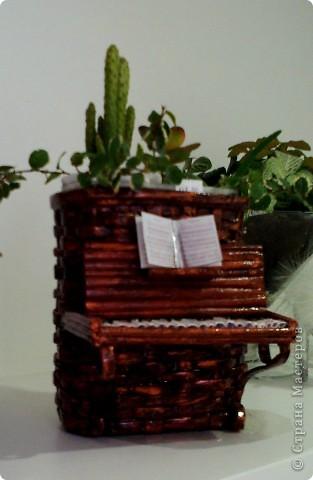 Мастер-класс Плетение: Обещанный МК к пианино  Бумага газетная. Фото 15