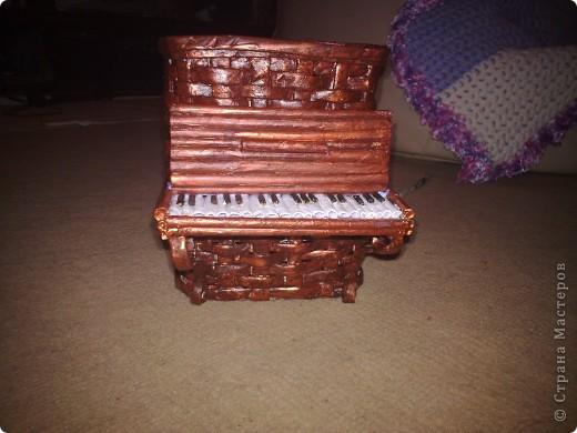 Мастер-класс Плетение: Обещанный МК к пианино  Бумага газетная. Фото 13