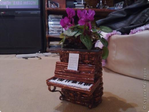 Мастер-класс Плетение: Обещанный МК к пианино  Бумага газетная. Фото 14