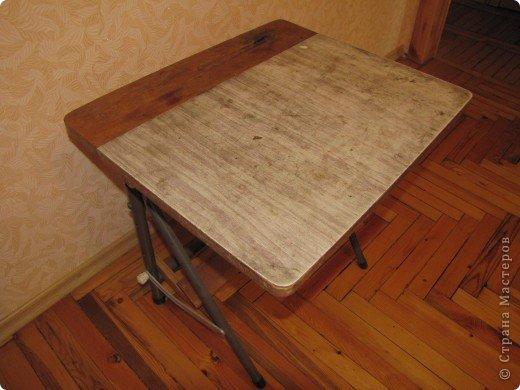 Декор предметов, Мастер-класс Декупаж: Жил-был стол...(реставрация). Салфетки, Скорлупа яичная, Шпагат. Фото 2