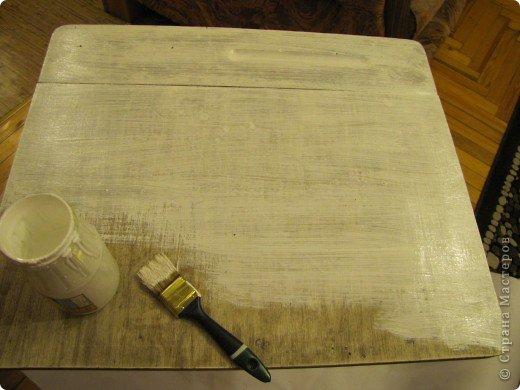 Декор предметов, Мастер-класс Декупаж: Жил-был стол...(реставрация). Салфетки, Скорлупа яичная, Шпагат. Фото 3