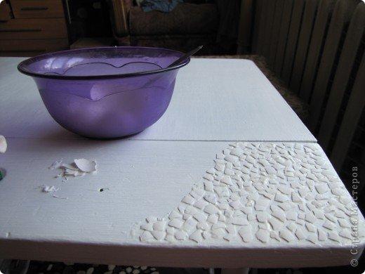Декор предметов, Мастер-класс Декупаж: Жил-был стол...(реставрация). Салфетки, Скорлупа яичная, Шпагат. Фото 5